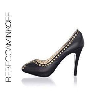 Rebecca Minkoff Open Toe Grommet Pumps. Size 8B